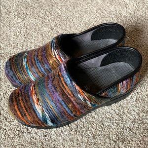 DANSKO Multicolor Yarn Fabric Clogs